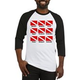 Dive Flags of the World Baseball Jersey