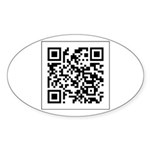 Custom QRCode Oval Sticker (Oval)