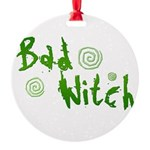 Bad Witch Round Ornament