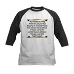 Grandpa has your back! Military Kids Baseball Jers