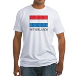 Netherlands Flag Fitted T-Shirt