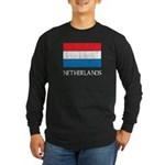 Netherlands Flag Long Sleeve Dark T-Shirt