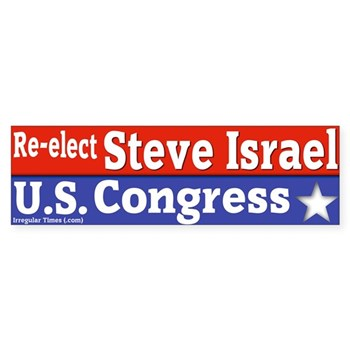 Re-Elect Steve Israel to Congress Bumper Sticker