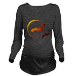 Flying Vampire Bats Long Sleeve Maternity T-Shirt
