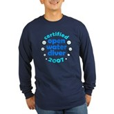 Open Water Diver 2007 Long Sleeve Dark T-Shirt