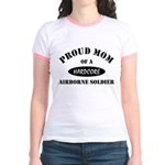 Proud Mom Airborne Soldier Jr. Ringer T-Shirt