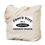 Proud Wife Airborne Soldier Tote Bag