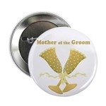 Golden Mother of the Groom Button