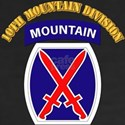 SSI - 10th Mountain Division with Text Women's V-N