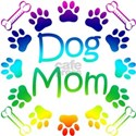 'Dog Mom' White T-Shirt