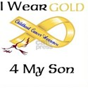 I wear Gold 4 - MY SON-1 White T-Shirt