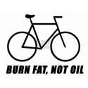 Burn fat not oil, on the back White T-Shirt
