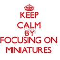 Keep Calm by focusing on Miniatures T-Shirt