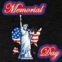 memorial day stature of liberty & america shaped f