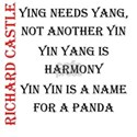 Castle yin yang White T-Shirt