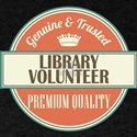 library volunteer vintage logo T-Shirt