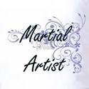 Martial Artist Artistic Job Design with Golf Shirt
