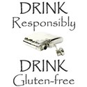 Drink Responsibly Drink Gluten-Free White T-Shirt