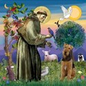 SAINT FRANCISWith an Airedale (#6)