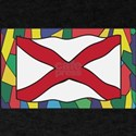 Alabama Flag On Stained Glass T-Shirt