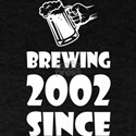 Brewing Since 2002 Beer Fathers Day Gift T-Shirt
