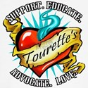 Tourette's Tattoo Heart Fitted T-Shirt