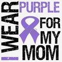 I Wear Purple Ribbon For My Mom Shirts & Gifts