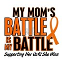 My Battle Too (Mom) Orange Women's T-Shirt