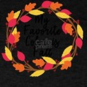 My Favorite Color is Fall Autumn Thanksgiv T-Shirt