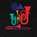 Colorful Wind Musical Instrument Musician T-Shirt
