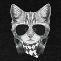Cat Wearing Sunglasses And Headphones Cute T-Shirt