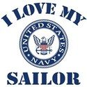 I Love My Navy Sailor Tee