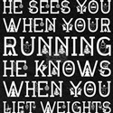 Santa Knows When Your Running Lift Weights T-Shirt