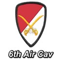 6th Air Cavalry White T-Shirt
