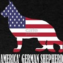 American German Shepherd Dog Flag Memorial T-Shirt