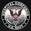 USN Hospital Corpsman Eagle H Dark T-Shirt