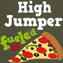 High Jumper Fueled By Pizza Dark T-Shirt
