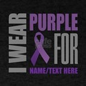 Purple Awareness Ribbon Customized T-Shirt