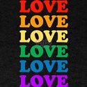 Love Love Love (Rainbow) Dark T-Shirt