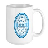 100% Genuine Diver Large Mug