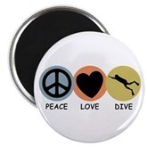 Peace Love Dive Magnet