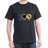 Peace Love Dive Dark T-Shirt