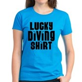 Lucky Diving Shirt Women's Dark T-Shirt