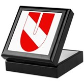 Scuba Flag Letter U Keepsake Box