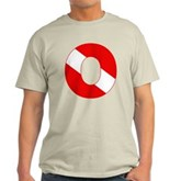 Scuba Flag Letter O Light T-Shirt