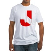 Scuba Flag Letter J Fitted T-Shirt