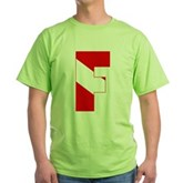 Scuba Flag Letter F Green T-Shirt
