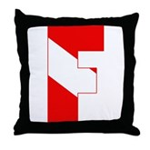 Scuba Flag Letter F Throw Pillow