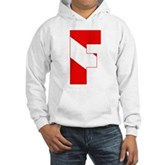 Scuba Flag Letter F Hooded Sweatshirt