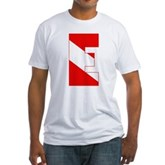 Scuba Flag Letter E Fitted T-Shirt